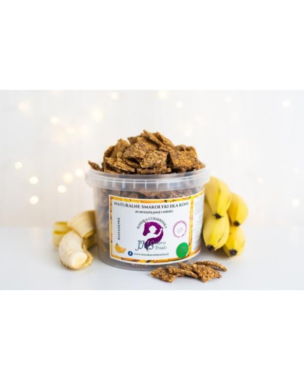 Naturalne smakołyki dla koni Końska Cukierenka bananowe