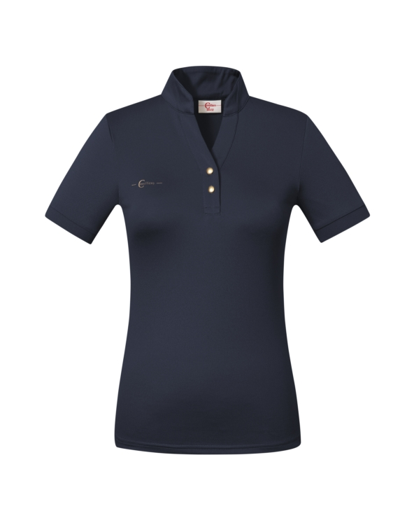 Koszulka polo damska Covalliero Navy