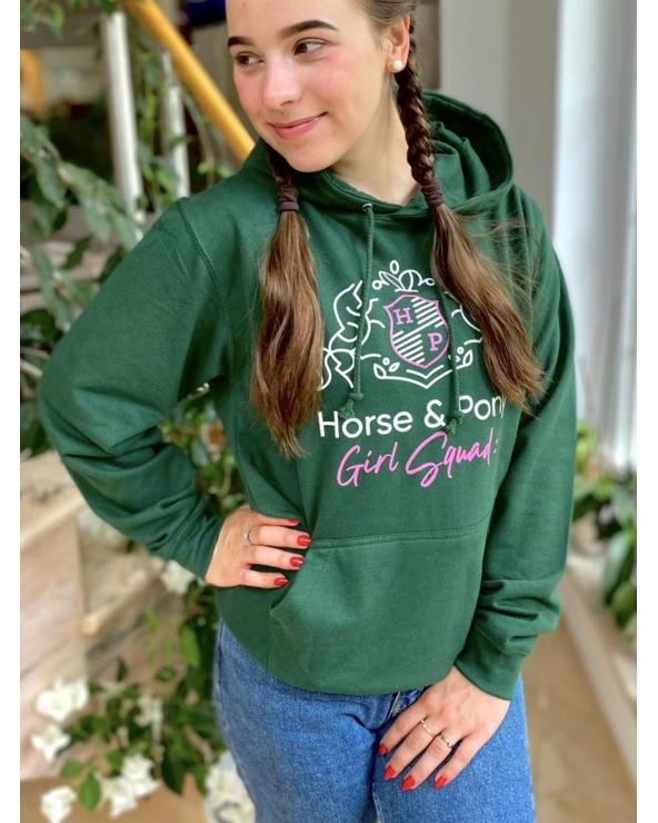 Bluza damska GIRL SQUAD Horse & Pony butelkowa zieleń