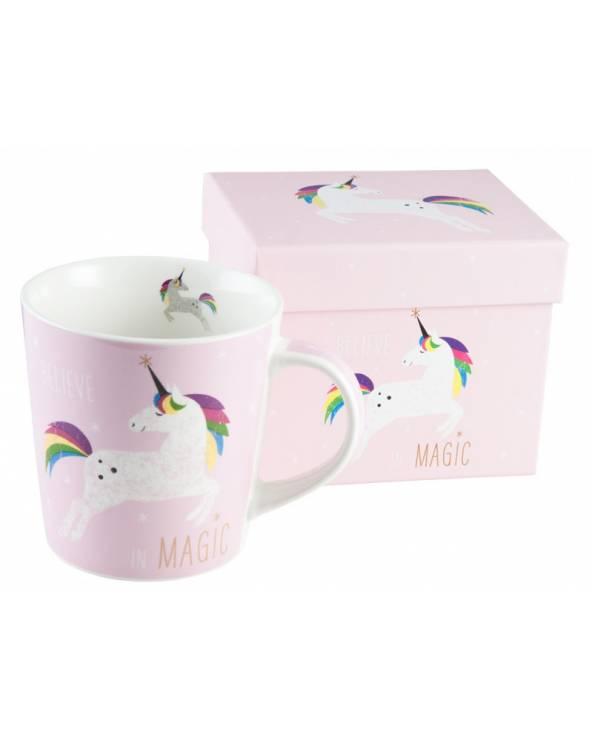 Kubek Pink Unicorn z kartonikiem PFIFF