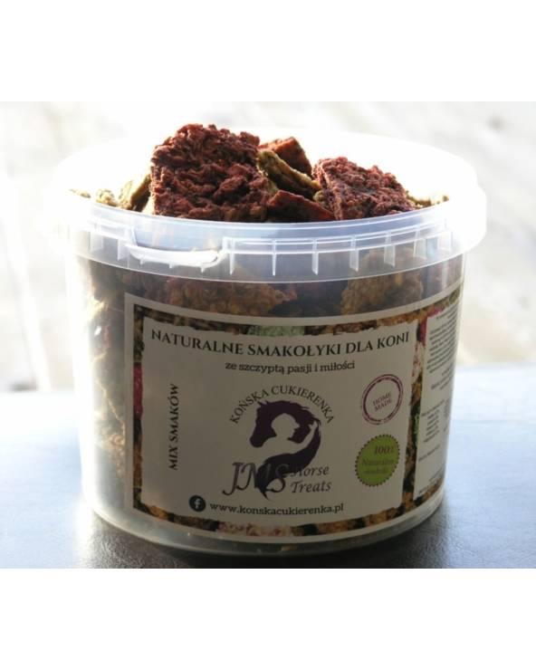 Naturalne smakołyki dla koni JMS Horse Treats mix smaków