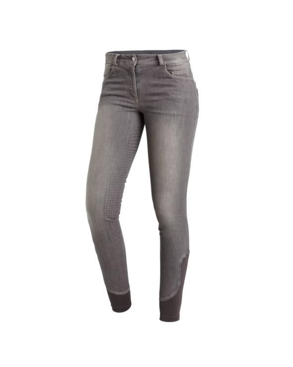 Bryczesy damskie Delphi Jeans z pełnym lejem silikonowym graphite Schockemohle
