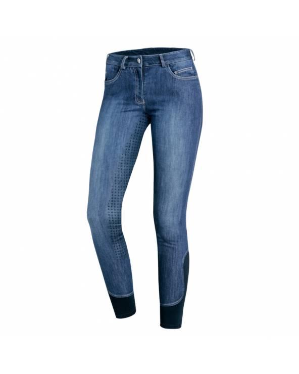 Bryczesy damskie Delphi Jeans z pełnym lejem silikonowym Schockemohle