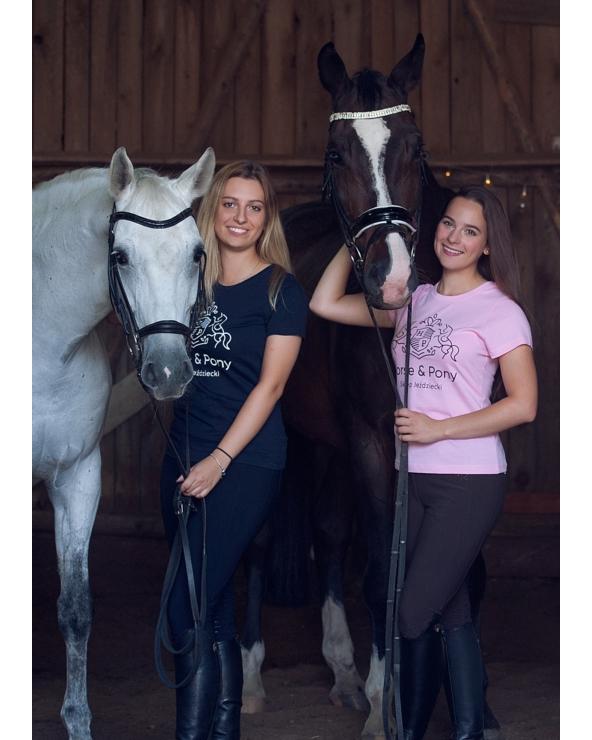 Koszulka damska różowa Horse & Pony