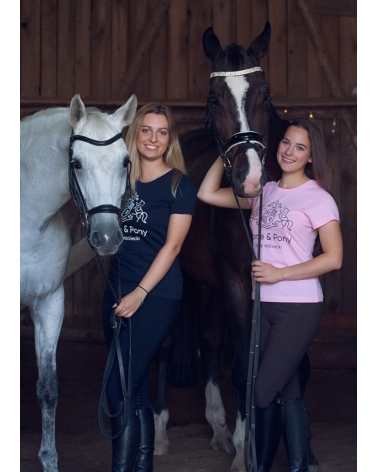 Koszulka damska granat Horse & Pony