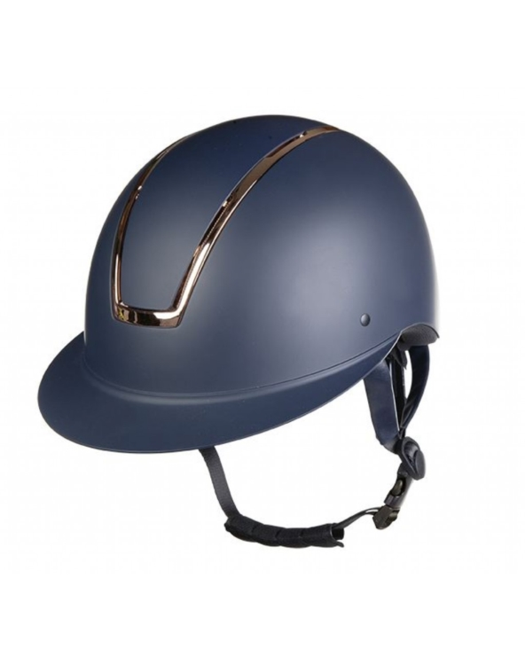 Kask Lady Shield HKM Navy Rose Gold