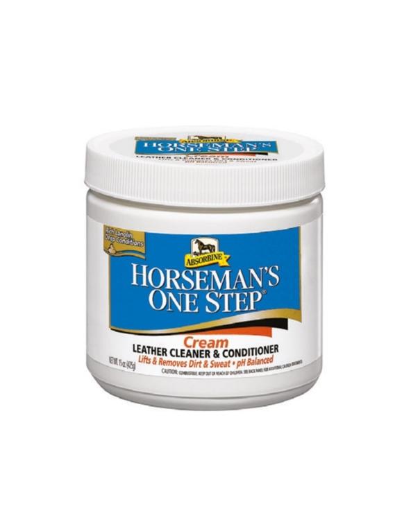 Środek do czyszczenia i pielęgnacji wyrobów skórzanych Horseman's One Step Cream Absorbine
