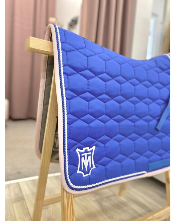 Czaprak Square Pad Royal Blue Sheen Rose MATTES