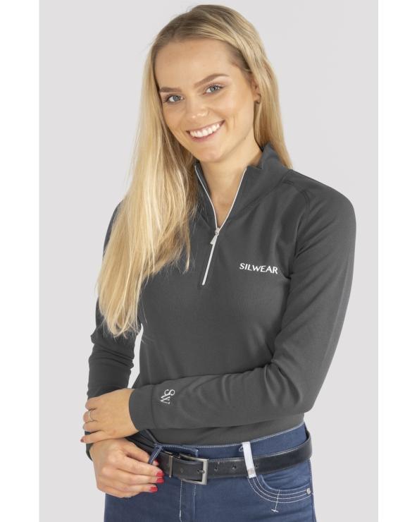 Golf termoaktywny damski długi rękaw ARGENTO OPTIMA SILWEAR szary