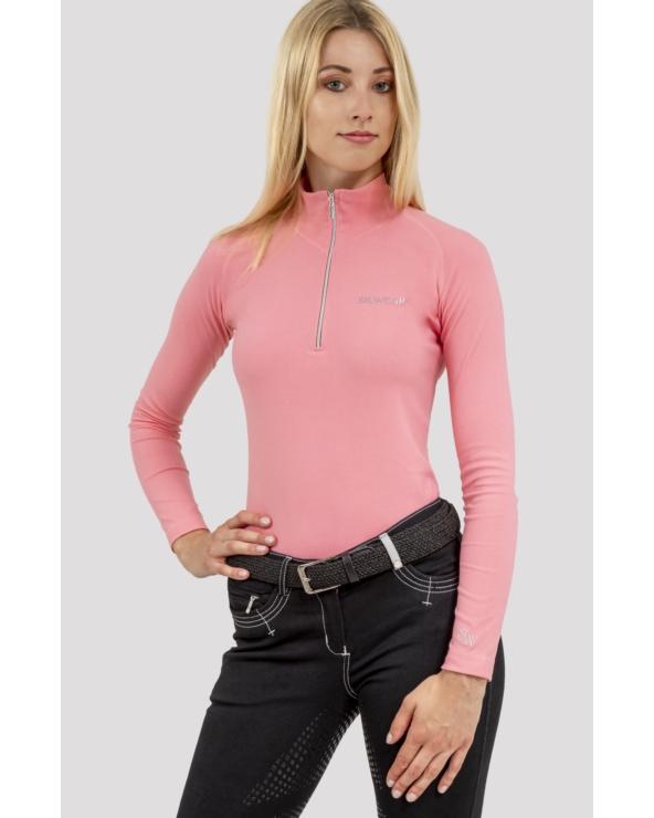 Golf termoaktywny damski długi rękaw ARGENTO OPTIMA SILWEAR flamingo pink