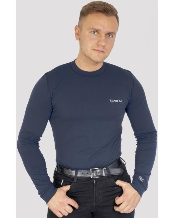 Koszulka męska na długi rękaw ARGENTO OPTIMA SILWEAR granat