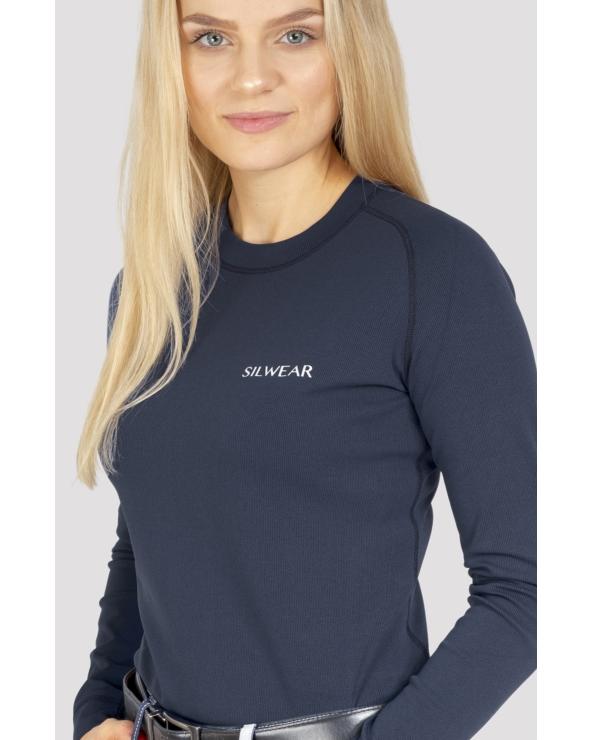 Koszulka damska na długi rękaw ARGENTO OPTIMA SILWEAR granat