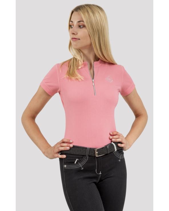 Koszulka Pół-polo z zamkiem ARGENTO OPTIMAL SILWEAR flamingo pink