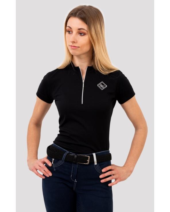 Koszulka Pół-polo z zamkiem ARGENTO OPTIMAL SILWEAR czarny
