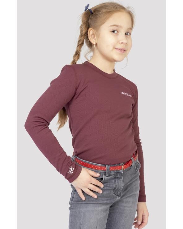 Koszulka na długi rękaw damska ARGENTO WARM SILWEAR bordowy