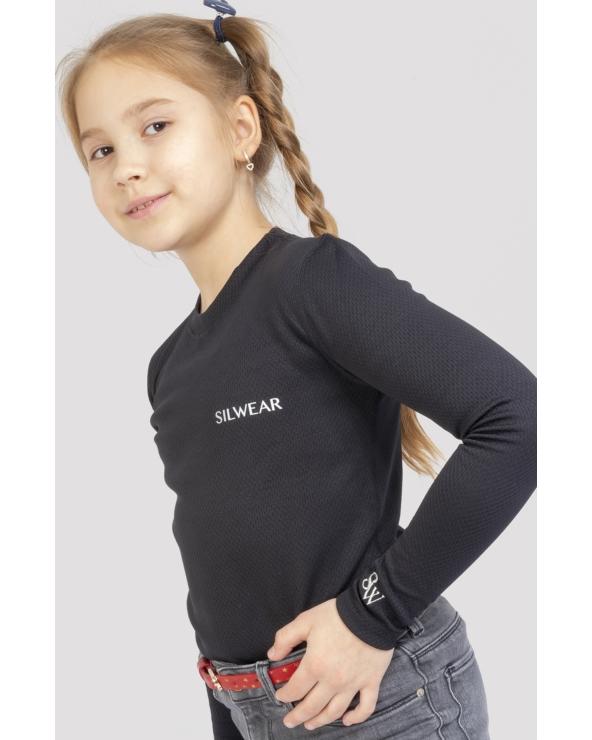 Koszulka na długi rękaw damska ARGENTO WARM SILWEAR czarny